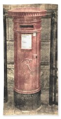 Victorian Red Post Box Beach Towel