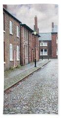 Victorian Terraced Street Of Working Class Red Brick Houses Beach Sheet by Lee Avison