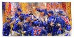 Victory At Last - Cubs 2016 World Series Champions Beach Towel