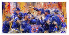 Victory At Last - Cubs 2016 World Series Champions Beach Sheet