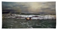 Victory Bald Eagle Art Beach Towel