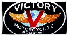 Victory Motorcycles Emblem Beach Towel