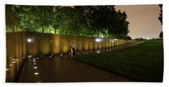 Vietnam Memorial By Night Beach Sheet