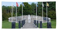 Vietnam Memorial In Vermont Beach Towel by Catherine Gagne