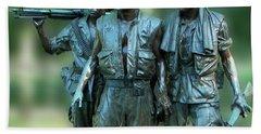 Vietnam Memorial Soldiers Beach Sheet