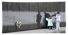 Vietnam Wall Family Beach Sheet