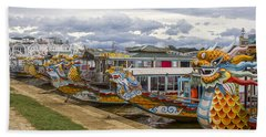 Vietnamese Dragon Boats Beach Sheet