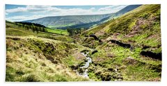 Beach Towel featuring the photograph View Down Crowden Clough by Nick Bywater