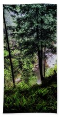 Beach Towel featuring the photograph View Downhill by Joseph Hollingsworth