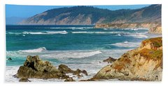 View From Abalone Point Beach Towel