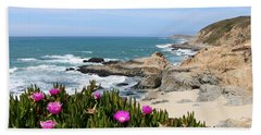 View From Bodega Head In Bodega Bay Ca - 3 Beach Sheet