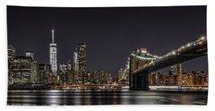 View From Brooklyn Bridge Park Beach Sheet