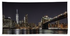 View From Brooklyn Bridge Park Beach Towel