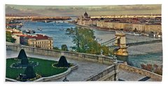View From Castle Hill, Budapest, Hungary Beach Sheet by Jim Pavelle