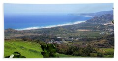 Beach Towel featuring the photograph View From Cherry Hill, Barbados by Kurt Van Wagner