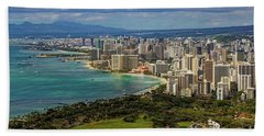 View From Diamond Head Beach Towel