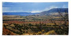 Beach Towel featuring the photograph View From Ghost Ranch, Nm by Kurt Van Wagner