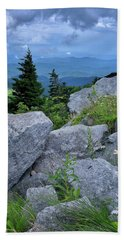 View From Grandfather Mtn Nc Beach Sheet by Steve Hurt
