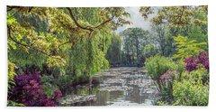View From Monet's Bridge Beach Sheet