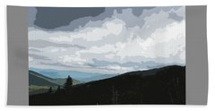 View From Mount Washington II Beach Towel by Suzanne Gaff