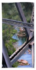 View From The Bridge--sedona, Az Beach Towel by Mary McCullah
