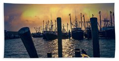 View From The Dock Beach Towel by John Rivera