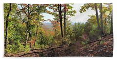 View From The Top Of Brown's Mountain Trail, Kings Mountain Stat Beach Towel