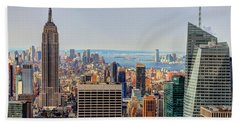 View From The Top Of The Rock Rockefeller Center Nyc  Beach Towel