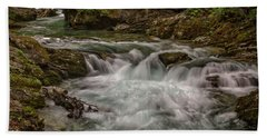 Beach Towel featuring the photograph View In Vintgar Gorge #2 - Slovenia by Stuart Litoff