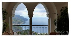 View Of Amalfi Coast Beach Towel