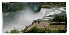 Beach Towel featuring the photograph View Of American Niagara Falls by Jeff Folger
