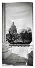 View Of Capitol Hill Through The Supreme Court Beach Towel
