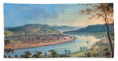 Beach Sheet featuring the painting View Of Cincinnati From Covington by John Caspar Wild