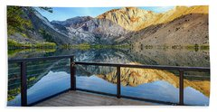 View Of Convict Lake Beach Towel