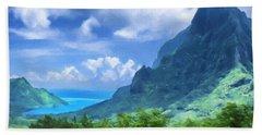 View Of Cook's Bay Mo'orea Beach Sheet
