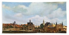 View Of Delft Beach Towel