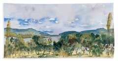 View Of D'entrecasteaux Channel From Birchs Bay, Tasmania Beach Sheet