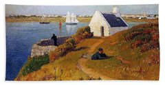 View Of Lorient In Brittany Beach Towel