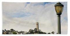 View Of Telegraph Hill Neighborhood San Francisco Beach Towel