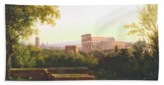 View Of The Colosseum From The Orti Farnesiani Beach Towel