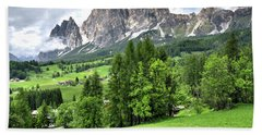 View Of The Dolomites Beach Towel