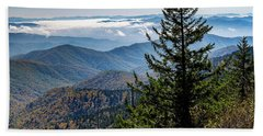 View Of The Great Smoky Mountains Beach Sheet