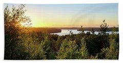 View Of The Lake Hiidenvesi At Sunset Beach Sheet