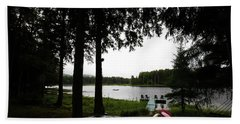Beach Towel featuring the photograph View Of The Pond by David Patterson