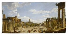 View Of The Roman Forum Beach Towel