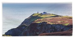 View Of The Trails On Howth Cliffs And Howth Head In Ireland Beach Sheet by Semmick Photo