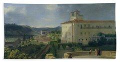 View Of The Villa Medici In Rome Beach Towel