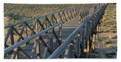 View Of The Wooden Bridge In Quinta Do Lago Beach Towel by Angelo DeVal