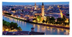 Beach Towel featuring the photograph View Of Verona by Fabrizio Troiani
