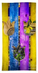 Beach Towel featuring the photograph View Thru The Fence by Nick Zelinsky